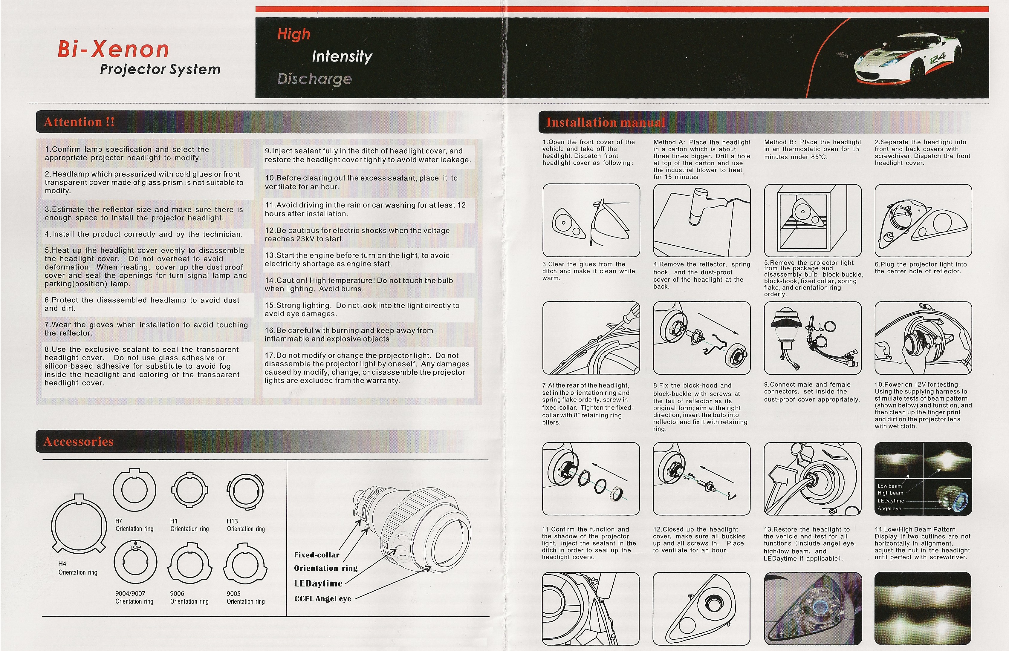 xenon hid installation instructions